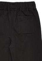 Rebel Republic - Cotton Fleece Sweatpants Black