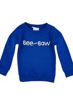Seesaw - Printed Sweater Blue Mid Blue