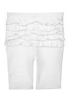Precioux Baby - 3/4 Frill Legging White