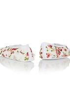 Tyttöni - Floral rose headband & shoe set Multi-colour