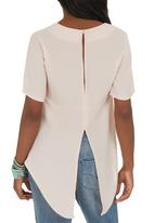 c(inch) - Open Back Blouse Pale Pink