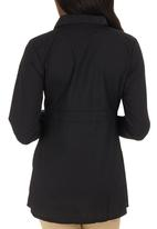 Cherry Melon - Longer-length work shirt Black