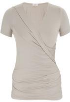 edit - Wrap T-shirt Stone/Beige