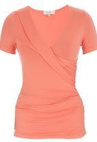 edit - Wrap T-shirt Coral