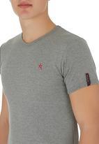 SOVIET - Short Sleeve Top Grey Melange Mid Grey