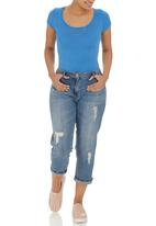 c(inch) - Short Sleeve Bodysuit Pale Blue