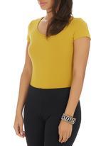 c(inch) - Short Sleeve Bodysuit Yellow