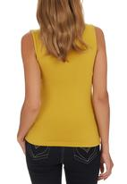edit - Knot Front T-shirt Chartreuse