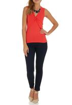 edit - Knot Front T-shirt Coral