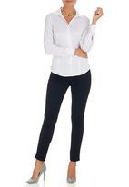 edit - Pinstripe Classic Shirt White