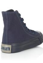 SOVIET - Mono Hi-top Sneaker Navy