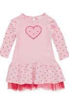 Luke & Lola - Drop Waist Dress Mid Pink