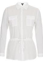 Suzanne Betro - Drawstring Shirt White