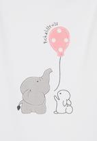 Pickalilly - Elephant & Bunny Tutu Set Mid Pink