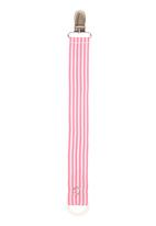 Pickalilly - Pink stripe dummy clip Mid Pink