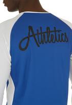 edge - Printed Long-sleeved T-shirt Blue