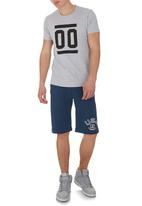 Russell Athletic - Striped rib shorts Blue (mid blue)