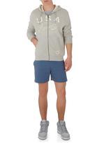Russell Athletic - Applique Zip-through Hoodie Grey