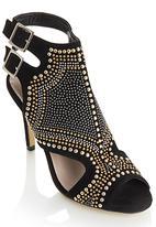 Footwork - Stud Detail Sling-back Heels Black