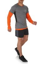 Lithe - Neon Long-sleeve T-shirt Orange