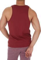 Next - Patterned Pocket Vest Red