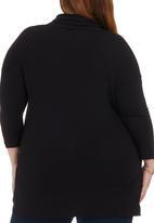 edit - Draped T-shirt Black