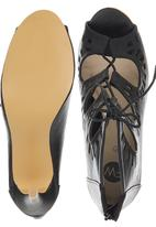 Footwork - Cut Out Lace Up High Heels Black