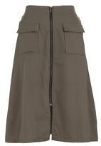 STYLE REPUBLIC - A-line Skirt Khaki Green