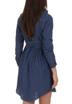 Me-a-mama - Midi Shirt Dress Mid Blue