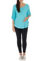 Me-a-mama - Butterfly Top Turquoise