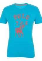 POLO - Classic Fit Tee Blue Mid Blue