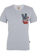 Wrangler - Peace T-shirt Grey