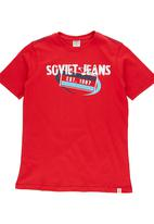 SOVIET - Boys Logo Print Tee Red