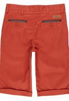 SOVIET - Boys Shorts With PU Trim Dark Red