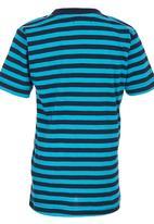 London Hub - Striped Tee Mid Blue