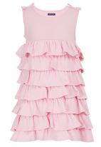 London Hub - Layered Dress Pale Pink