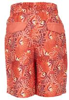 London Hub - Printed Swim Short Orange
