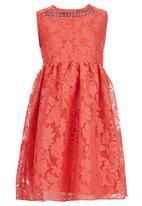 POP CANDY - Floral Dress Dark Pink
