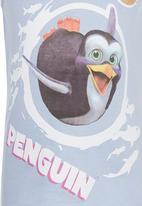 Jungle Beat - Penguin Print Vest Pale Blue