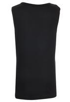 Jungle Beat - Bee Print Vest Black