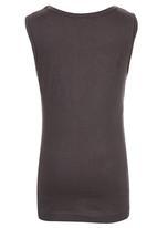 Jungle Beat - Bee Print Vest Dark Grey