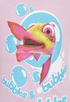 Jungle Beat - Fish Print Top Mid Purple