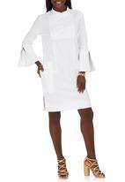Gavin Rajah - Linen Shirt with Panels White
