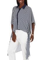 Gavin Rajah - Stripe Shirt Blue and White