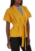 edit - Kimono Wrap Top Yellow
