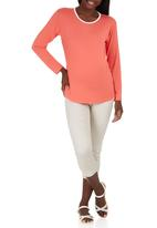 edit Maternity - High-low Top Coral