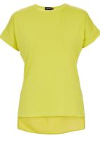 c(inch) - Sheer Back T-shirt Chartreuse