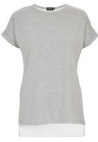 c(inch) - Sheer Back T-shirt Pale Grey
