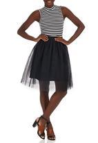 c(inch) - Tulle Midi Skirt Black