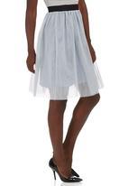 c(inch) - Tulle Midi Skirt Grey